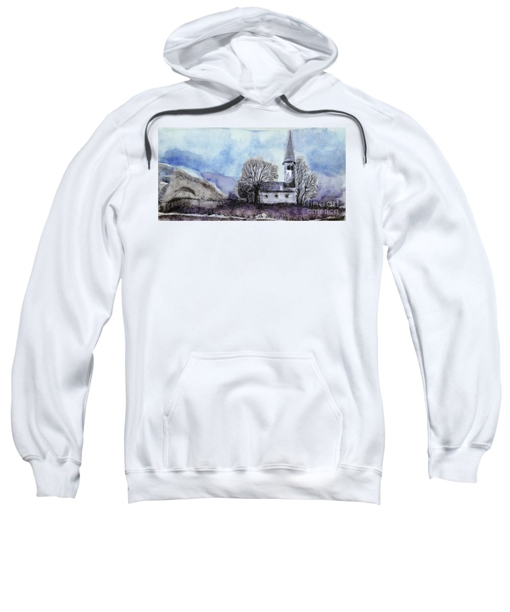 House Sweatshirt featuring the painting Tranquility by Jasna Dragun