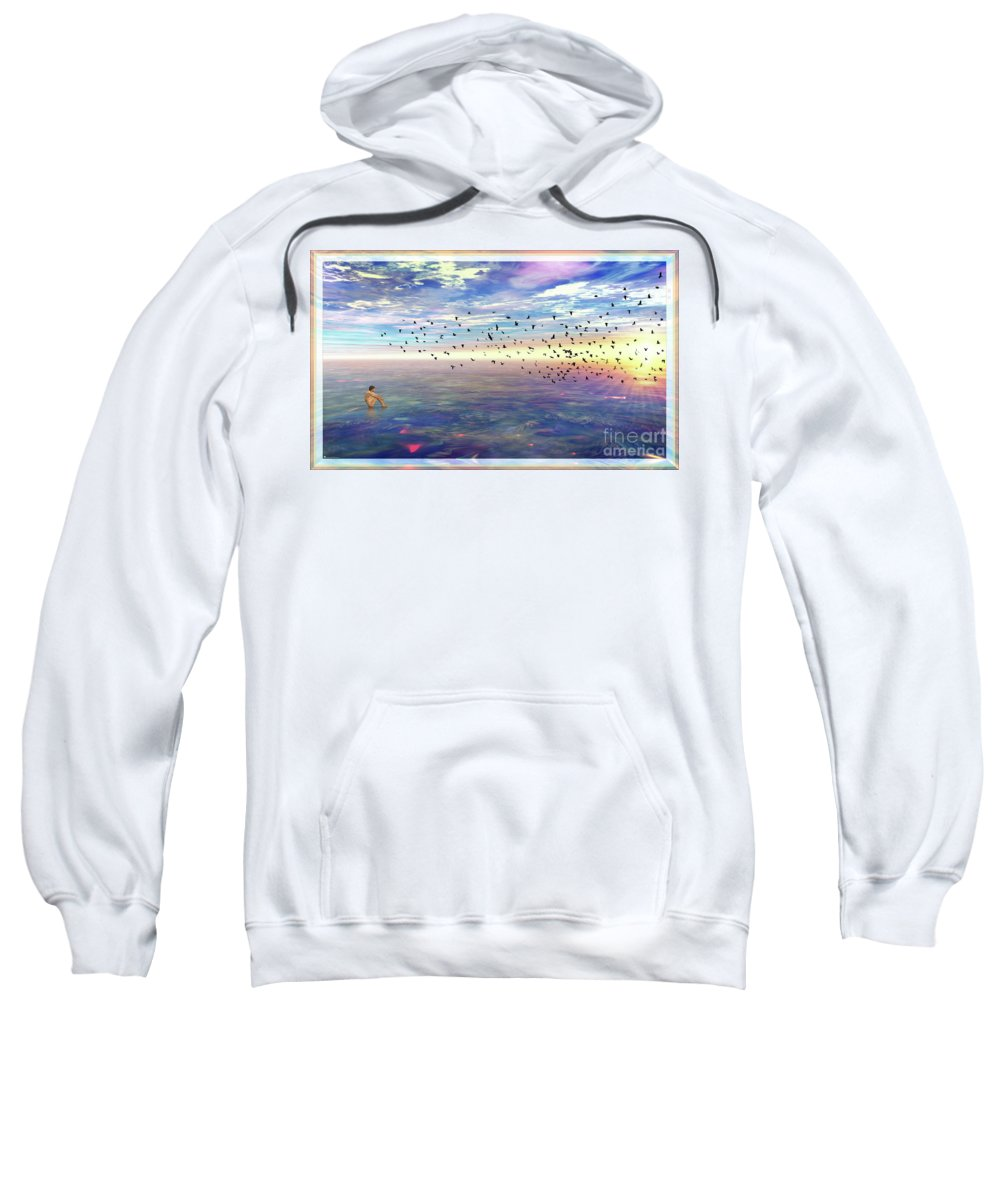 Sky Sweatshirt featuring the digital art Tranquility by Leonard Rubins