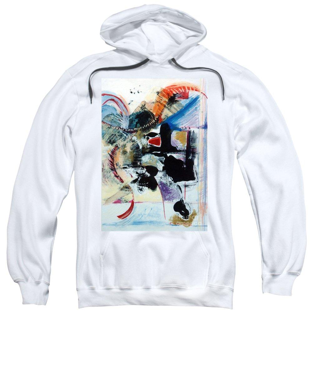 Transcendance Sweatshirt featuring the drawing Transcendance by Kerryn Madsen-Pietsch