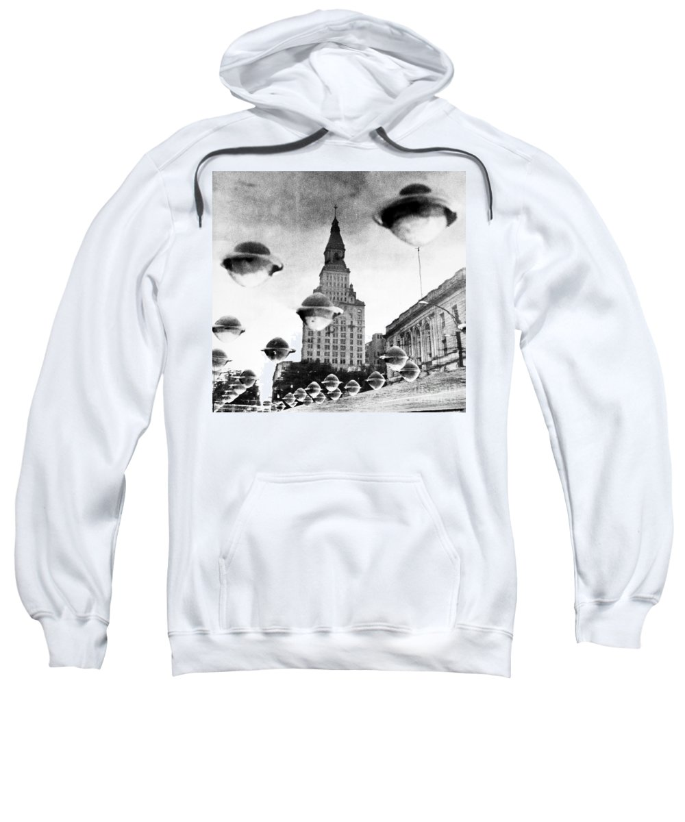 1960 Sweatshirt featuring the photograph Travelers Insurance Tower by Granger
