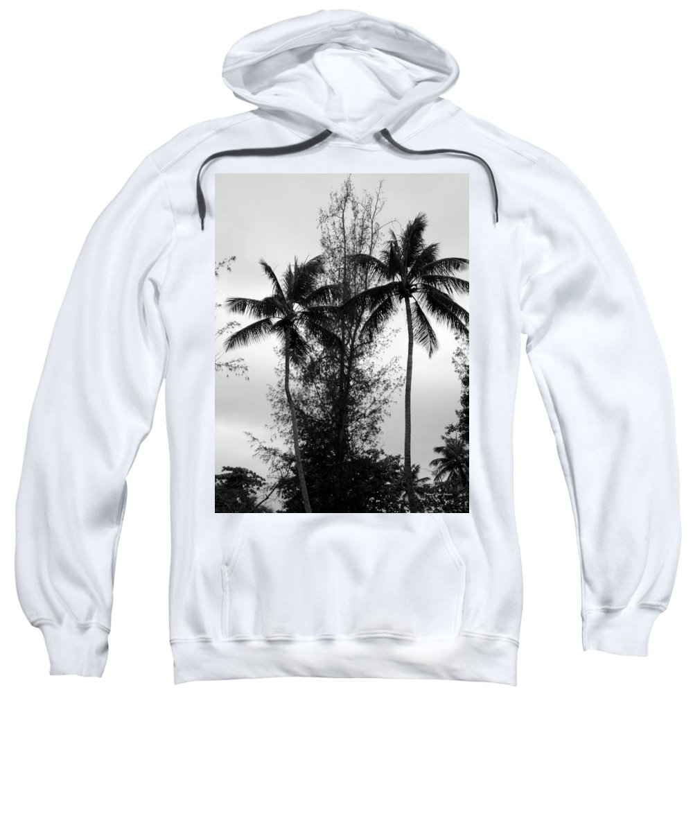 Palms Sweatshirt featuring the photograph Tree Between The Trees by Deborah Crew-Johnson