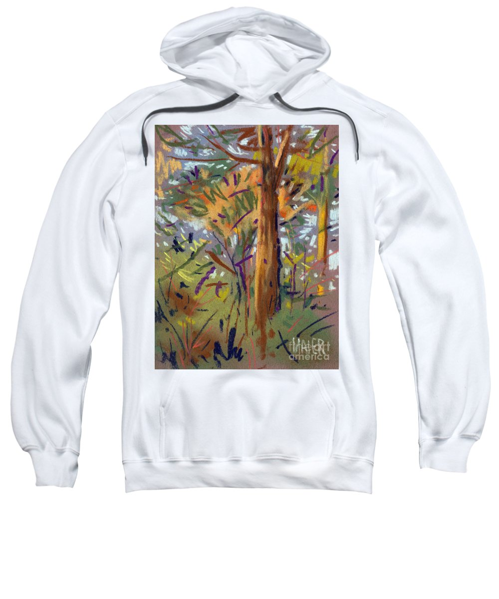 Trees Sweatshirt featuring the drawing Tree Sketch by Donald Maier