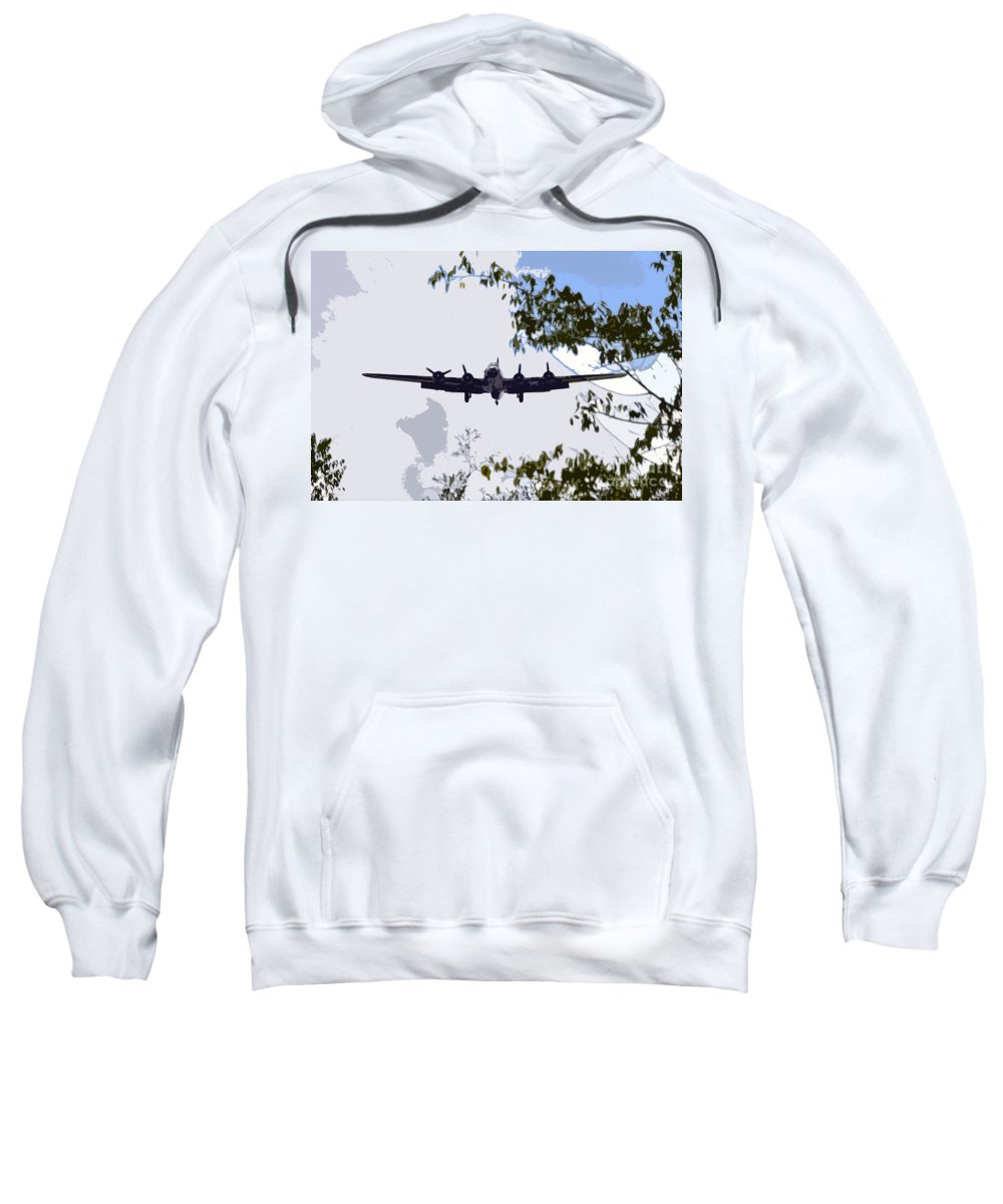 B 17 Sweatshirt featuring the photograph Tree Top Fly Er by David Lee Thompson