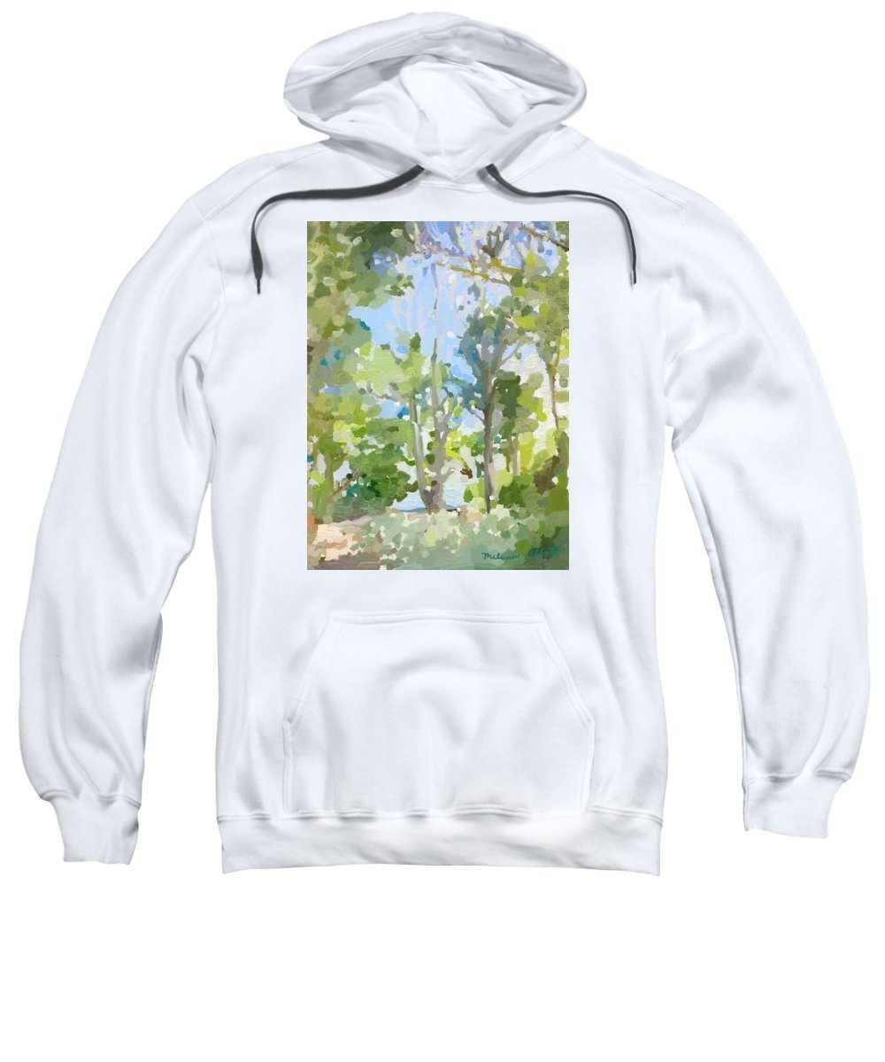 Cape Cana Real Sweatshirt featuring the painting Trees On Ski Island, Banana River, Cape Canaveral, Fl. by Melissa Abbott