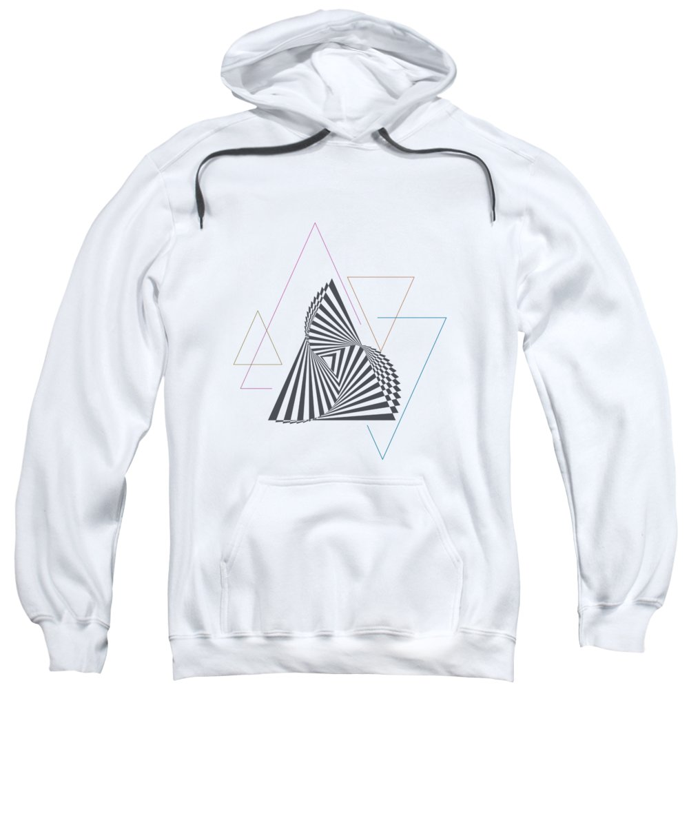 Art & Collectibles Sweatshirt featuring the digital art Triangle Op Art by BONB Creative
