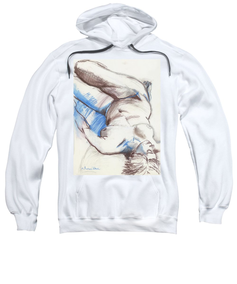 Figure Sweatshirt featuring the drawing Trish by Kerryn Madsen - Pietsch