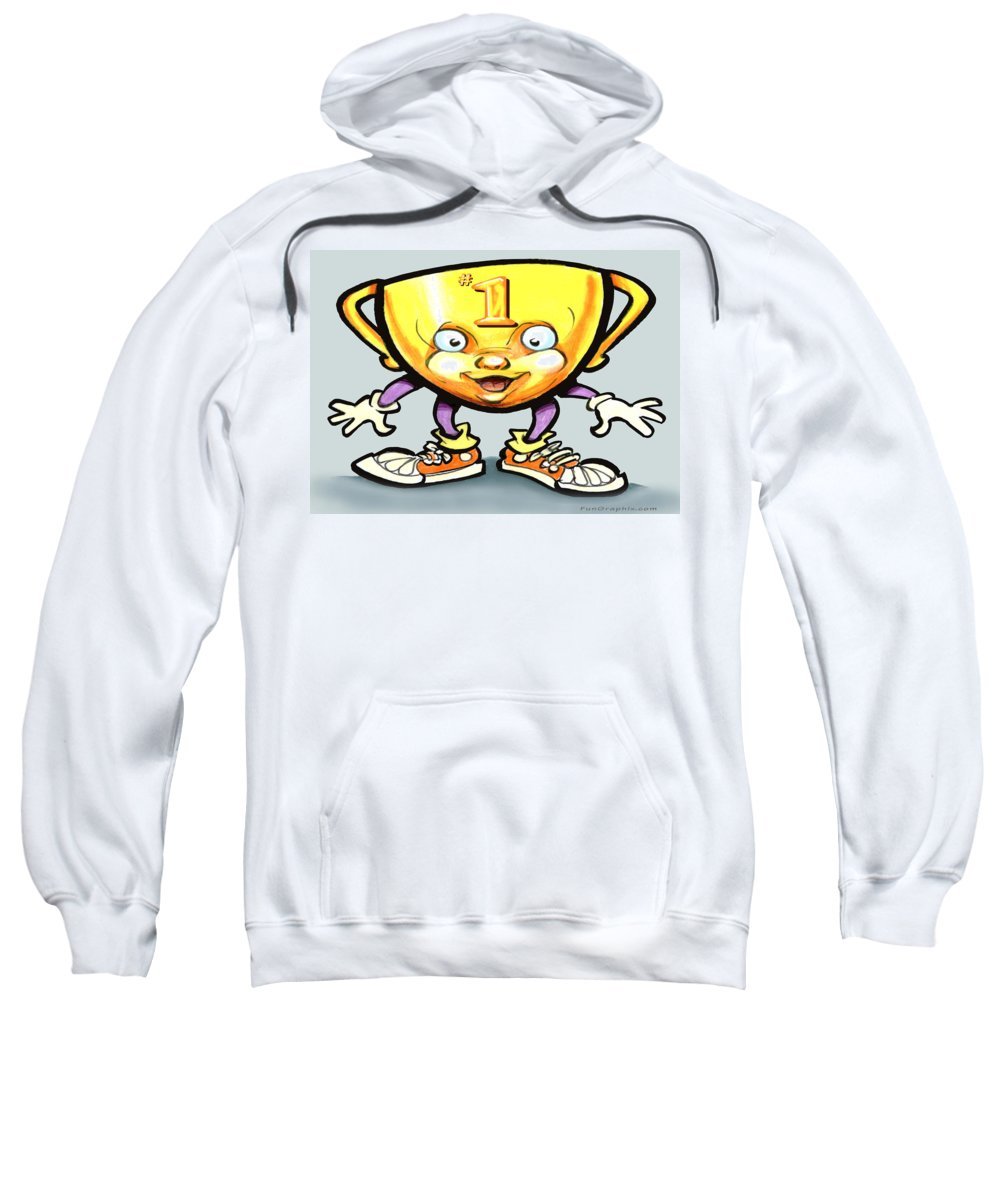 Trophy Sweatshirt featuring the digital art Trophy by Kevin Middleton