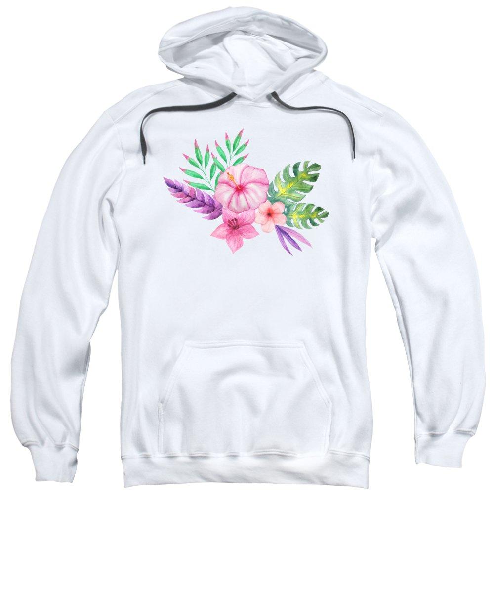 Hibiscus Flower Paintings Hooded Sweatshirts T-Shirts
