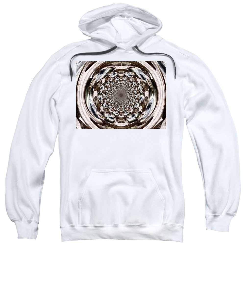 Orb Sweatshirt featuring the digital art Tunnel Vision by Charleen Treasures
