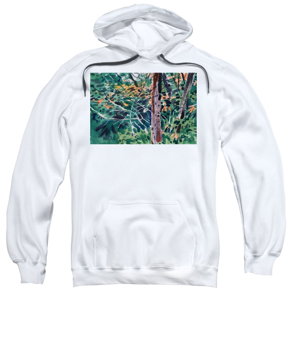 Autumn Foliage Sweatshirt featuring the painting Turning Leaves by Donald Maier