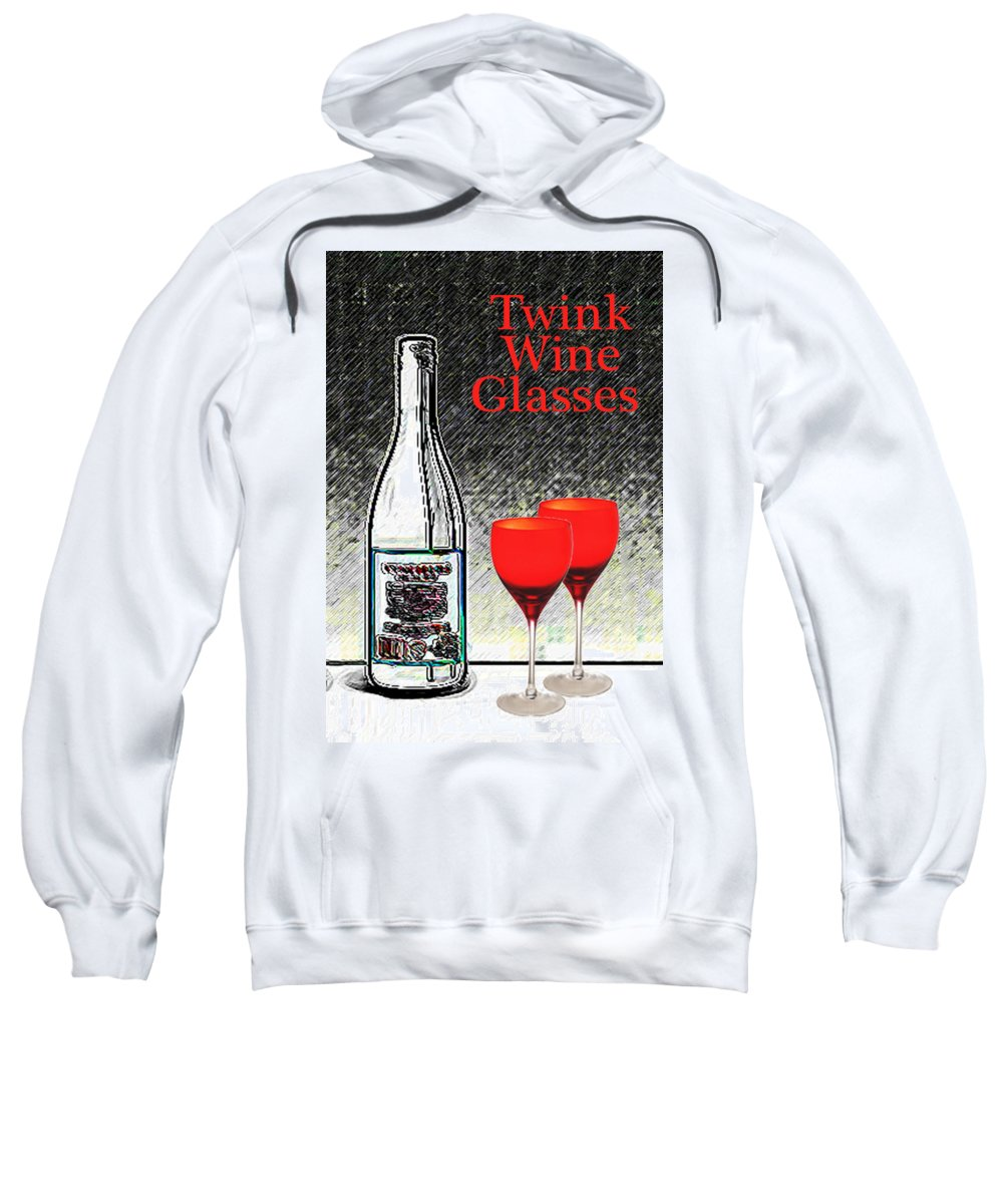 Illustrations Sweatshirt featuring the photograph Twink Wine Glasses by Bruce Iorio