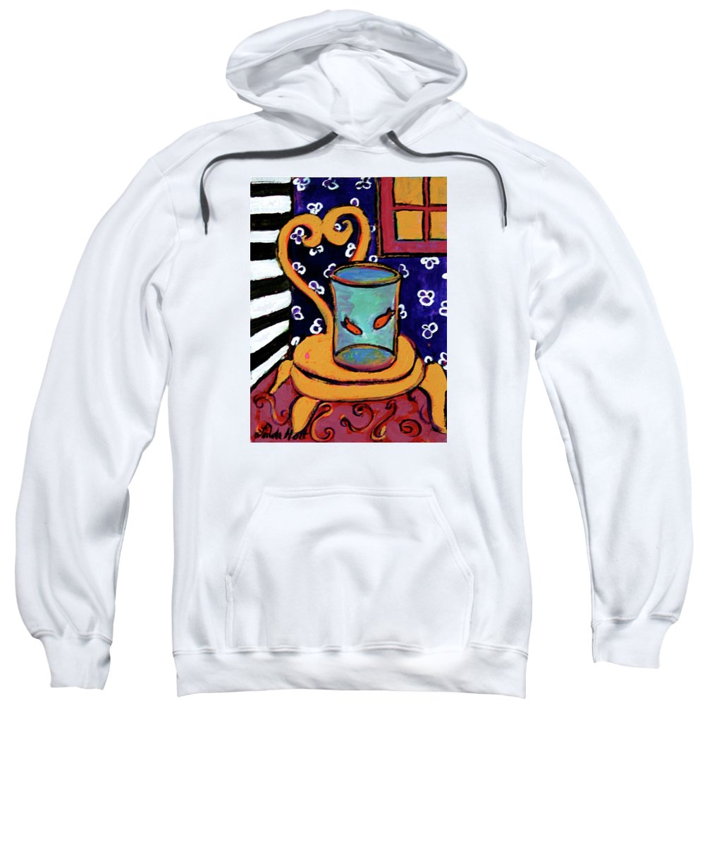 Interior Sweatshirt featuring the painting Twins by Linda Holt