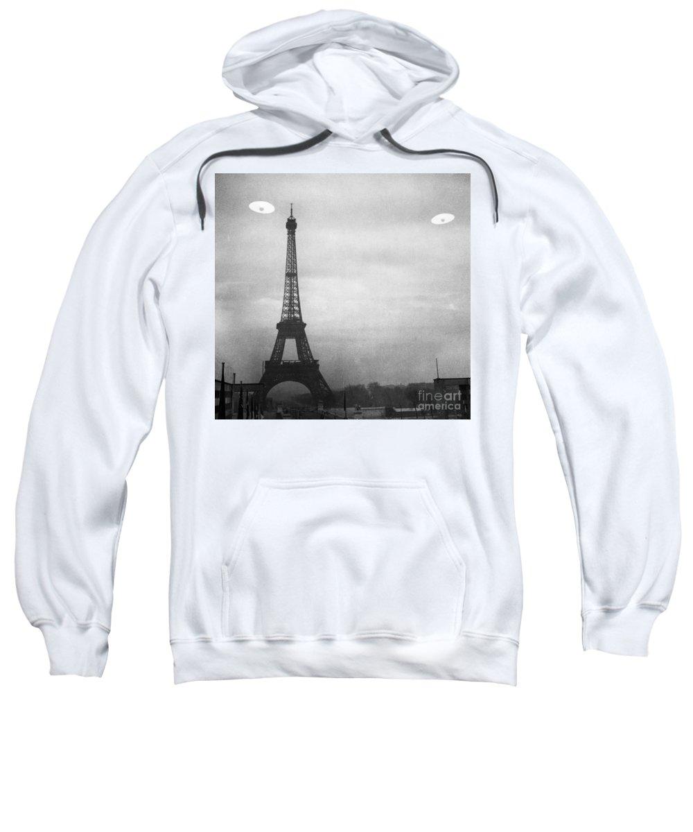 1950s Sweatshirt featuring the photograph Ufo: Paris by Granger