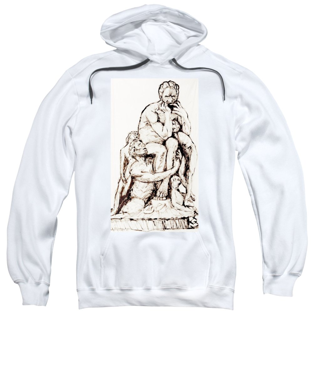 #ttt #ttterranova #painting Sweatshirt featuring the painting Ugolino And His Sons by Cesar Terranova