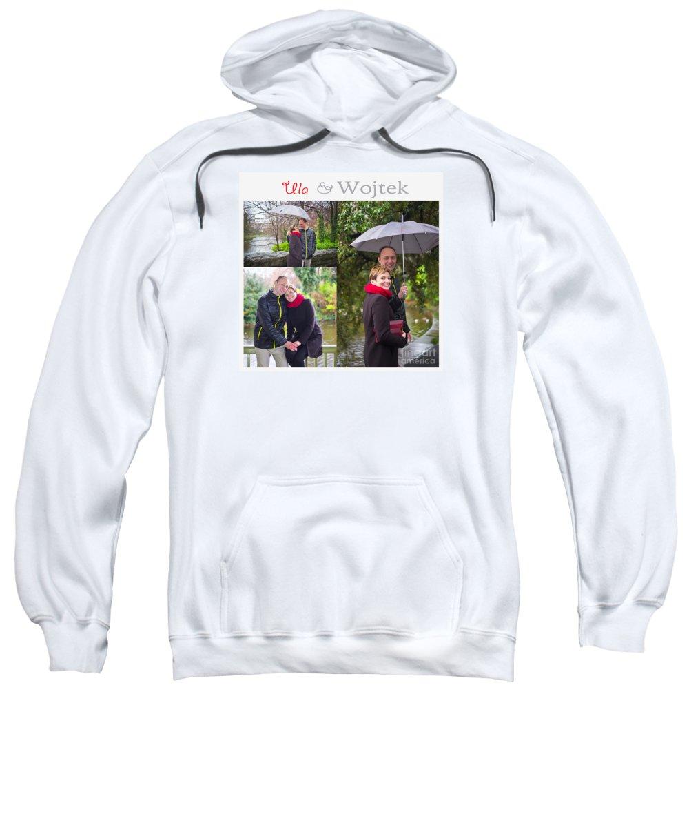 Engagement Sweatshirt featuring the photograph Ula And Wojtek Engagement 1 by Alex Art and Photo