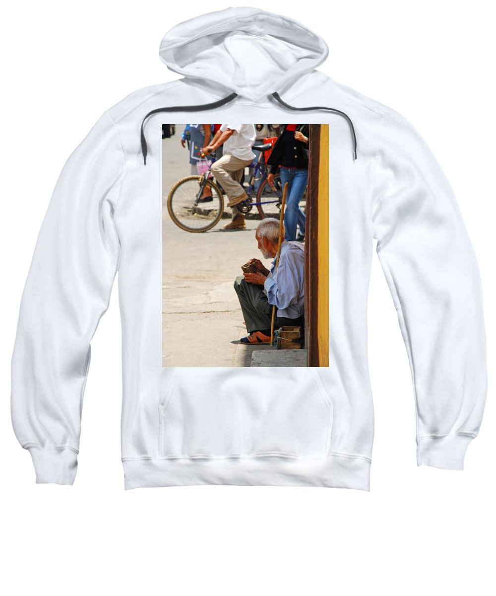 Beggar Sweatshirt featuring the photograph Un Peso Por Favor by Skip Hunt