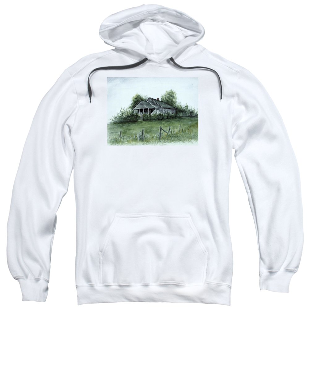 Landscape Sweatshirt featuring the painting Uncle Luther's Home by Robin Martin Parrish