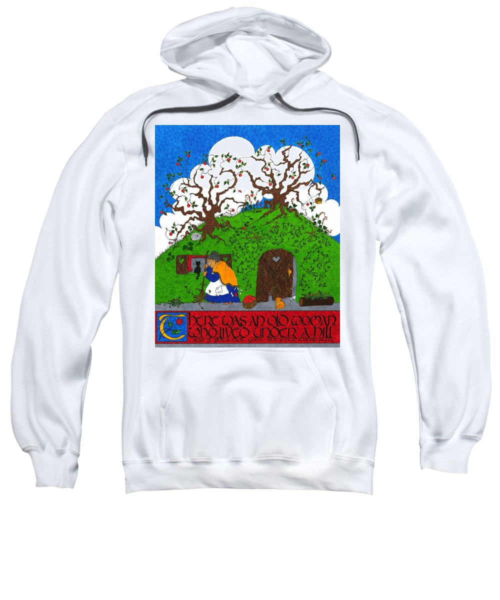 Whimsical Sweatshirt featuring the mixed media Under The Hill by Michele Sleight