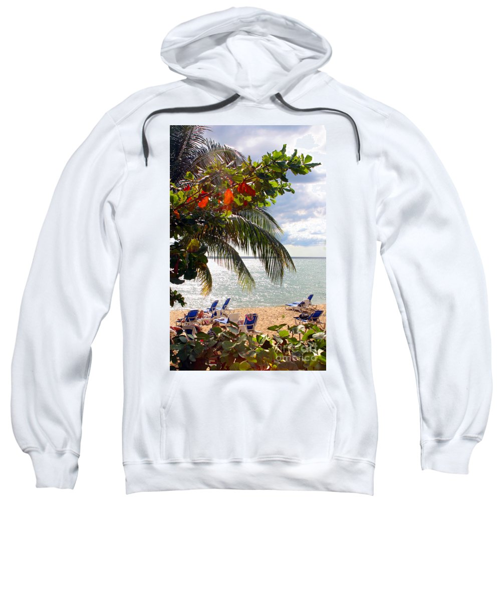 Palm Sweatshirt featuring the photograph Under The Palms In Puerto Rico by Madeline Ellis