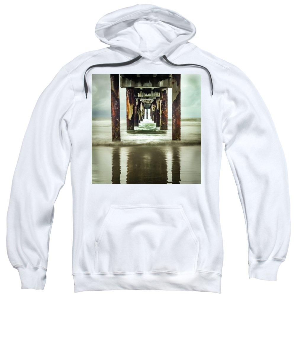 Pier Sweatshirt featuring the photograph Under The Pier by Larry Jones