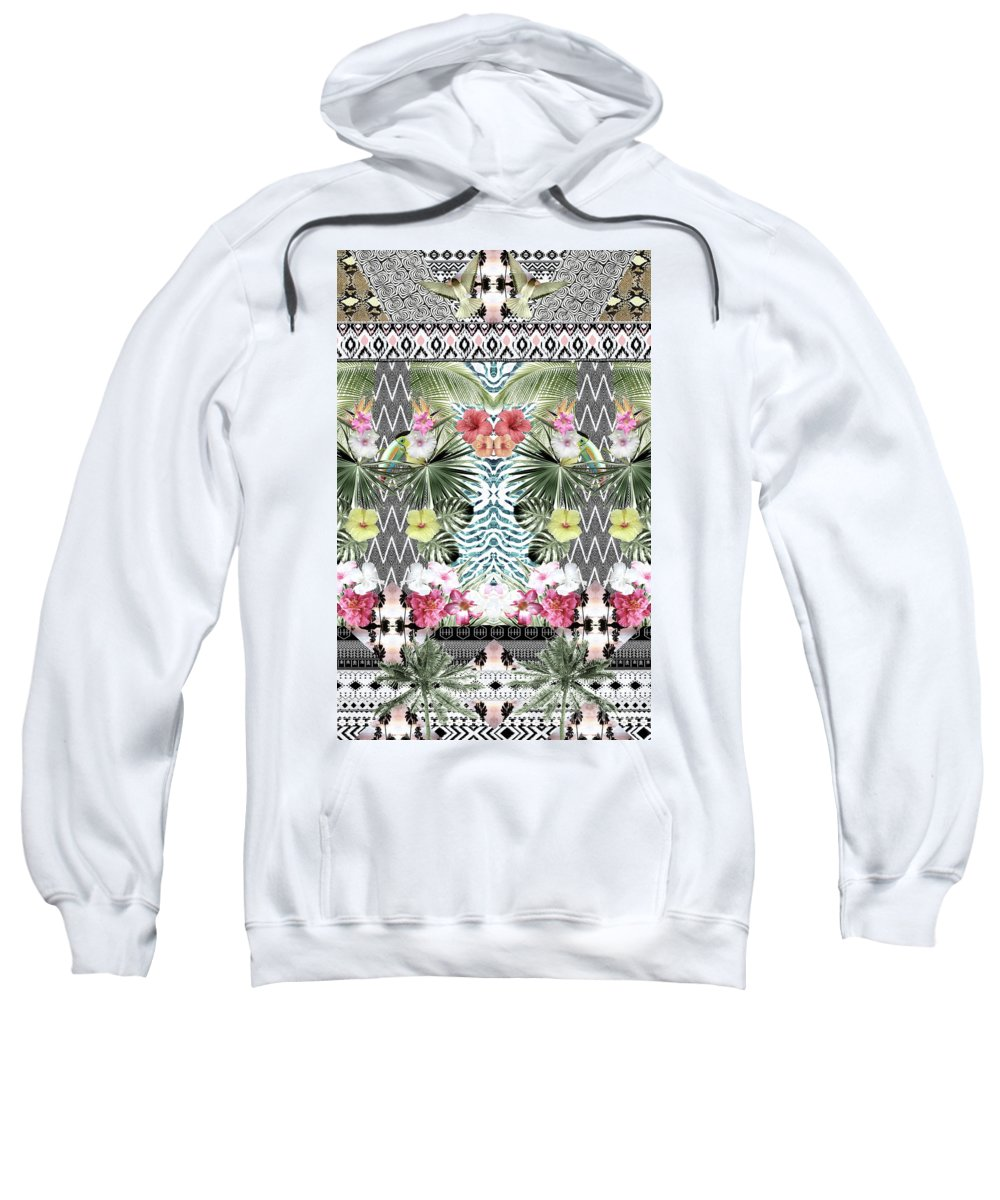 Textile Sweatshirt featuring the digital art Unicorn by Tess Jene