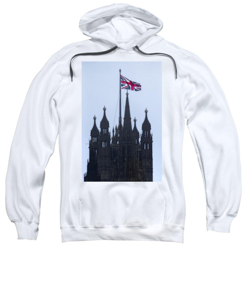 Westminster Sweatshirt featuring the photograph Union Jack by Joana Kruse