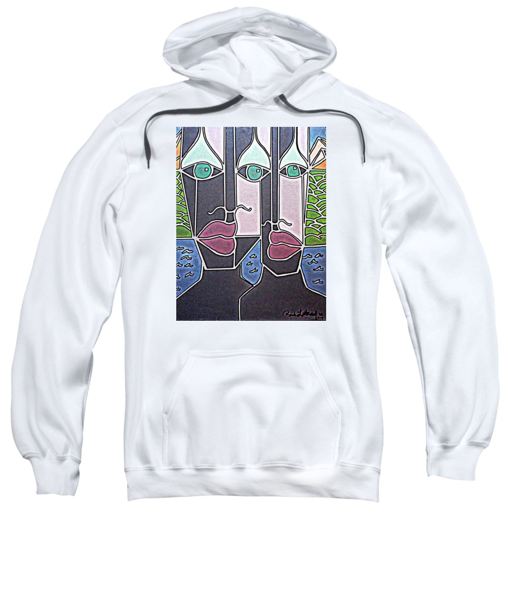 Mountains Sweatshirt featuring the painting Untitled 77 by Rick Litteral