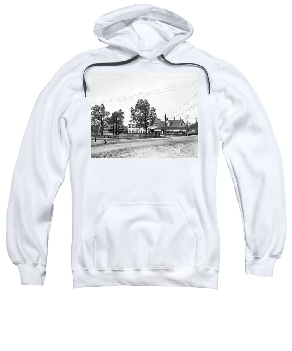 1900s Sweatshirt featuring the photograph Wilcox Hotel In Aiken by Detroit Publishing Company