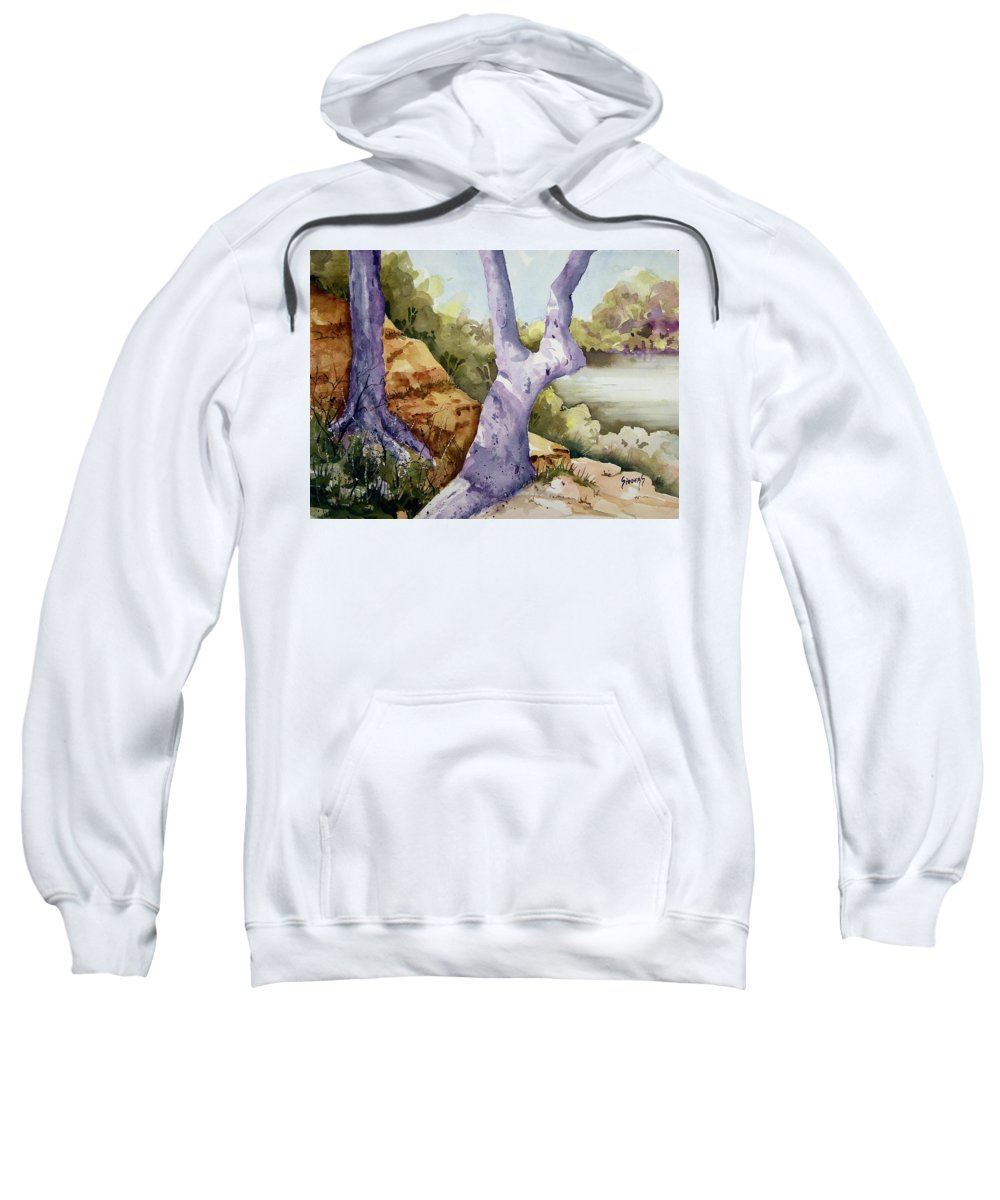 Tree Sweatshirt featuring the painting Untitled by Sam Sidders