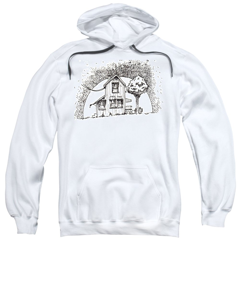 House Sweatshirt featuring the drawing Untitled by Tobey Anderson