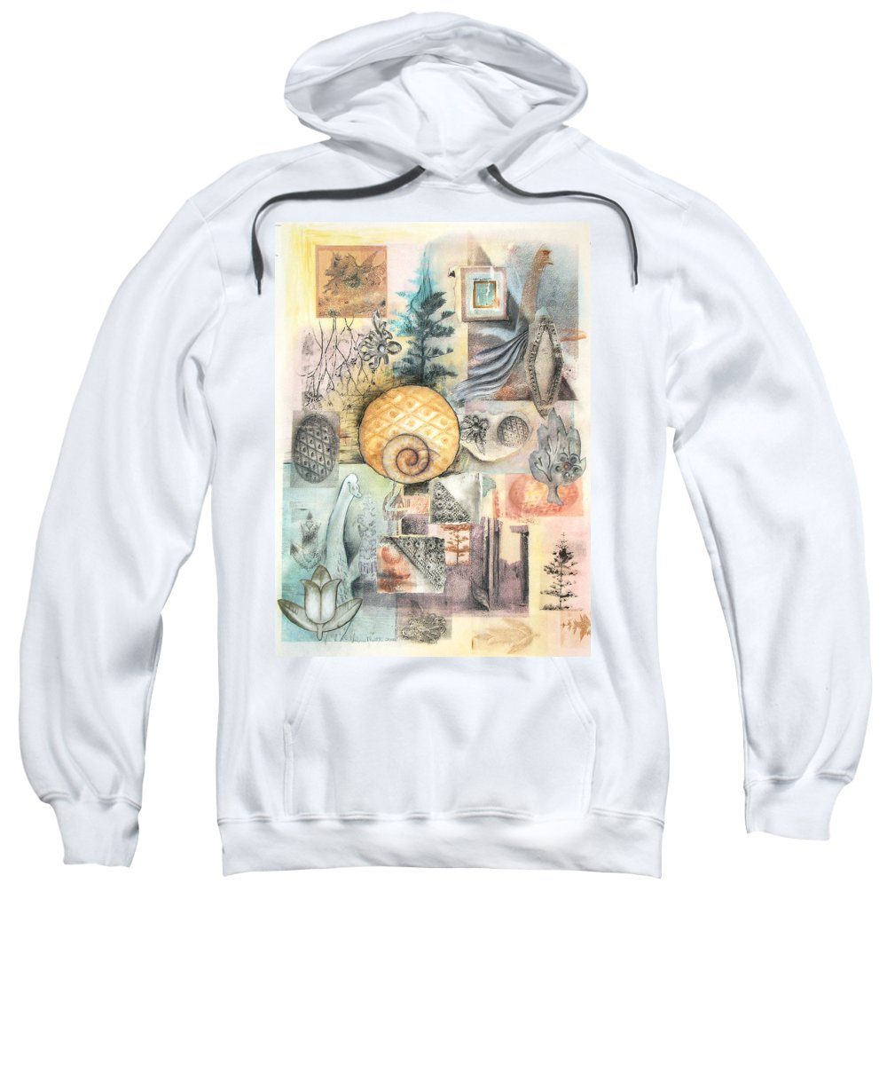Abstract Sweatshirt featuring the mixed media Up And Away by Valerie Meotti