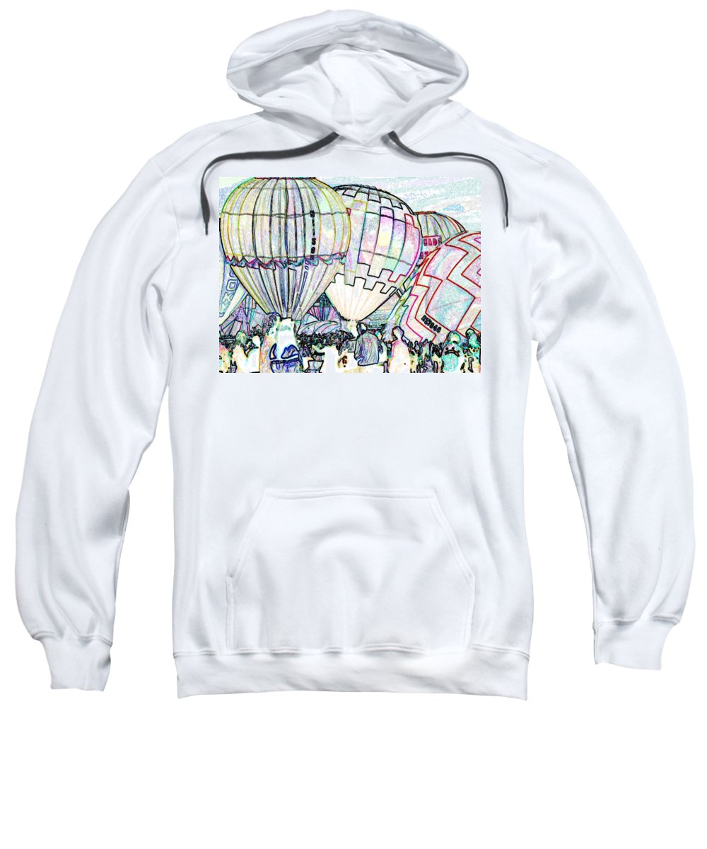 Balloons Sweatshirt featuring the photograph Up Up And Away by Tim Allen