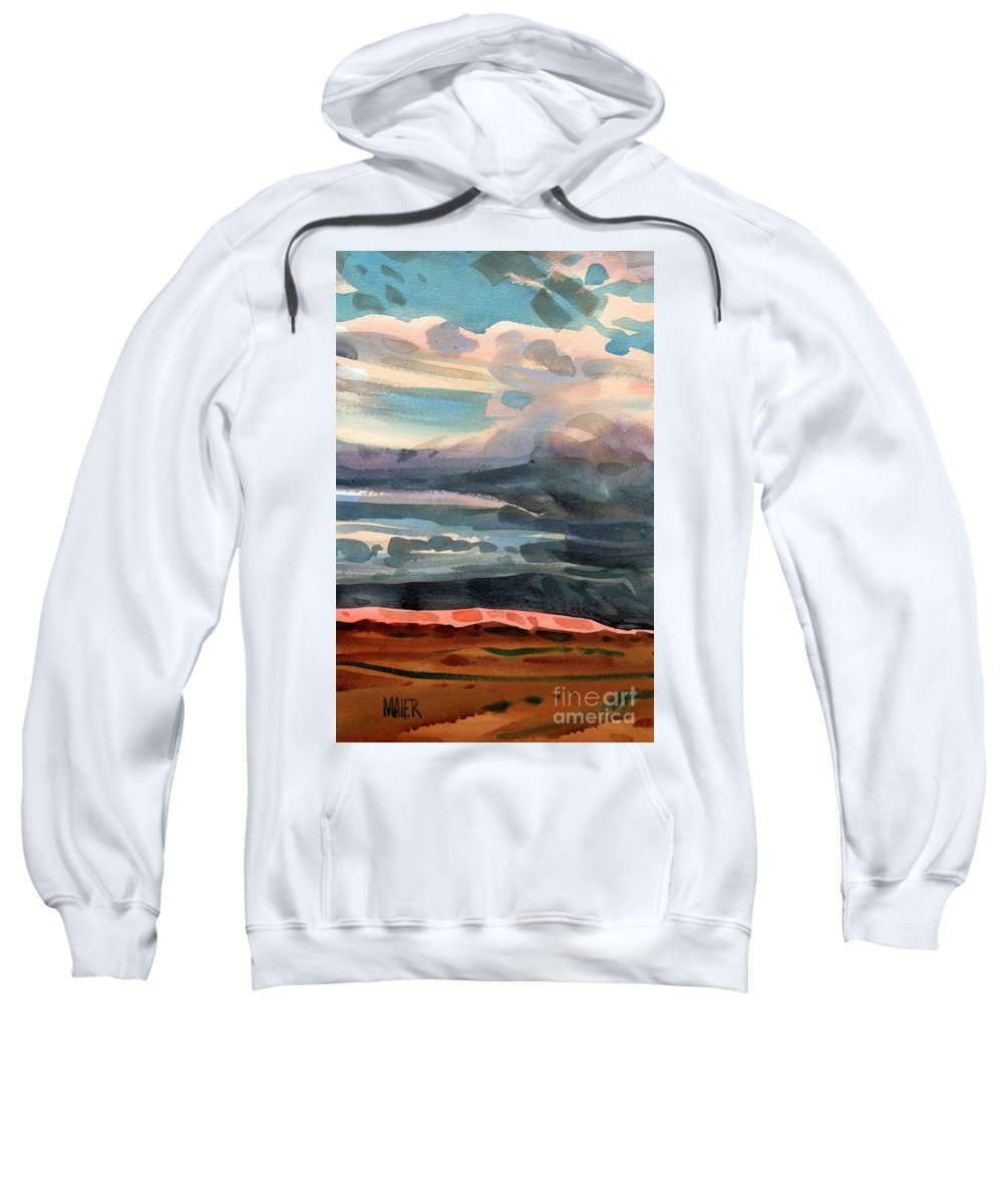 Western Landscape Sweatshirt featuring the painting Utah Skyline by Donald Maier