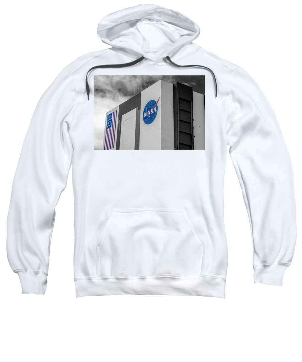 Travel Sweatshirt featuring the photograph VAB by Andrew Bridwell