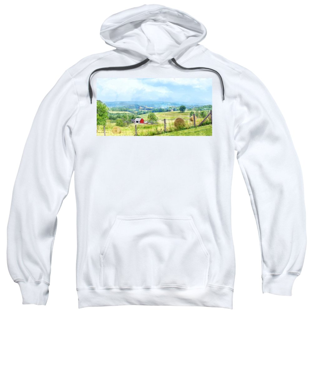 Valley Sweatshirt featuring the photograph Valley Farm by Francesa Miller