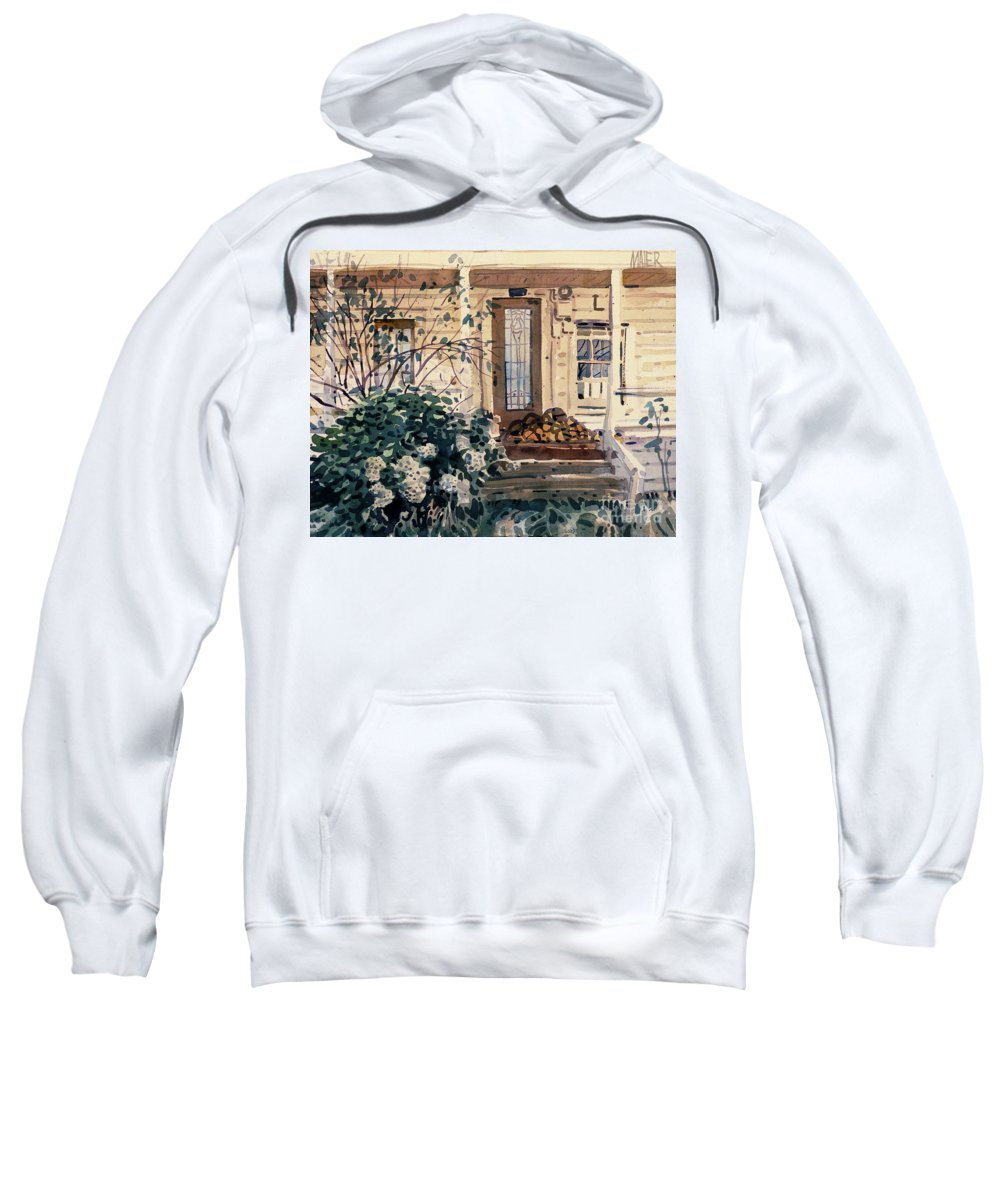 Plein Air Sweatshirt featuring the painting Valley Ford House by Donald Maier