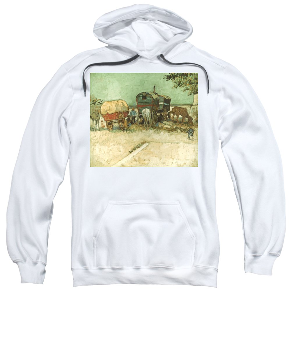 1888 Sweatshirt featuring the photograph Van Gogh: Gypsies, 1888 by Granger