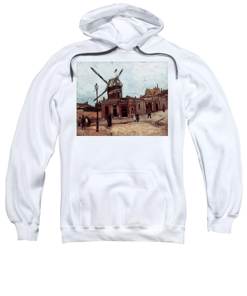 1886 Sweatshirt featuring the photograph Van Gogh: La Moulin, 1886 by Granger