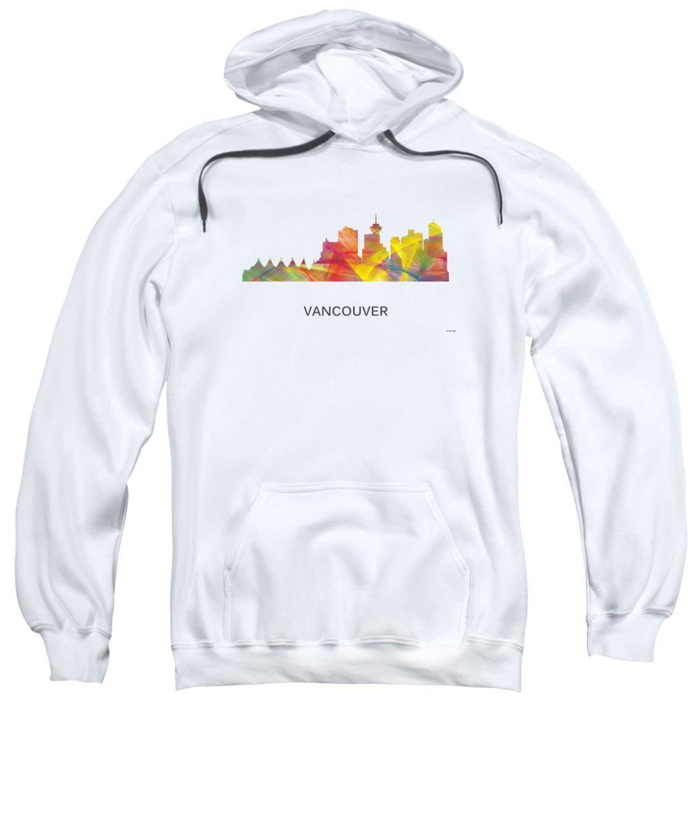 Vancouver City Digital Art Hooded Sweatshirts T-Shirts