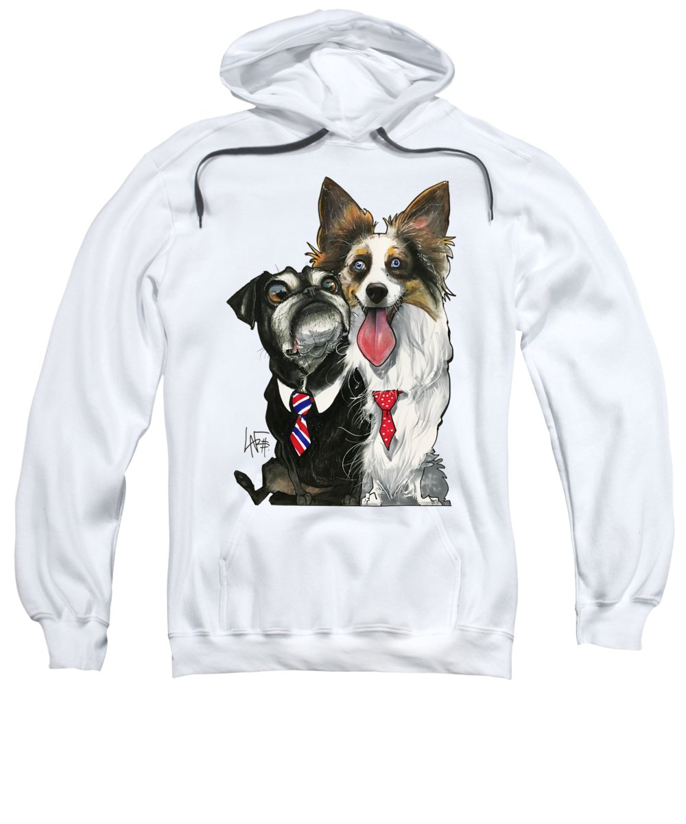 Pet Portrait Sweatshirt featuring the drawing Vannostrand 7-1484 by John LaFree