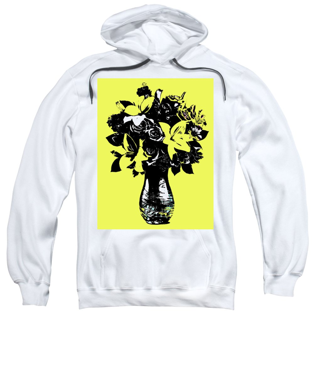 Pop Art Sweatshirt featuring the painting Vase Of Flowers by Rob Prince