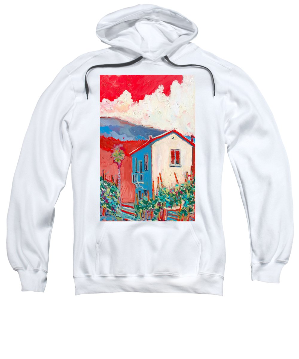 Tuscany Sweatshirt featuring the painting Vecchio Casa by Kurt Hausmann