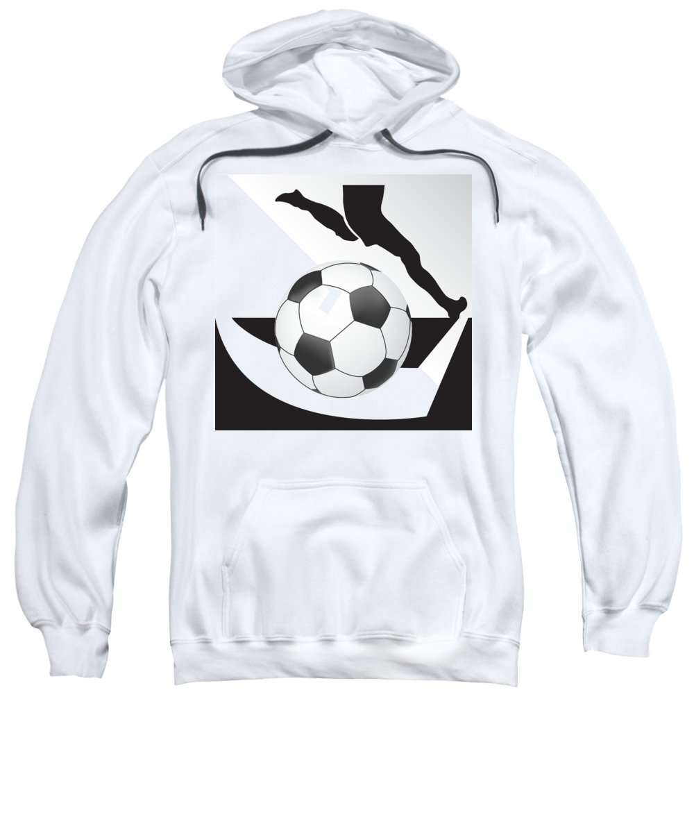Vector Sweatshirt featuring the digital art Vector Soccer Ball. Corner Kick Graphic Symbol by Yanin Kongurai