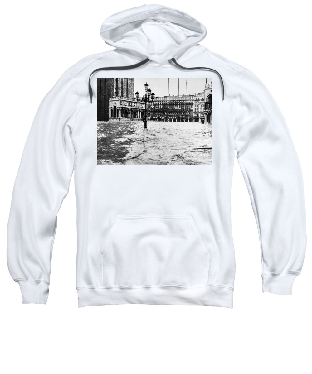1966 Sweatshirt featuring the photograph Venice: Flood, 1966 by Granger