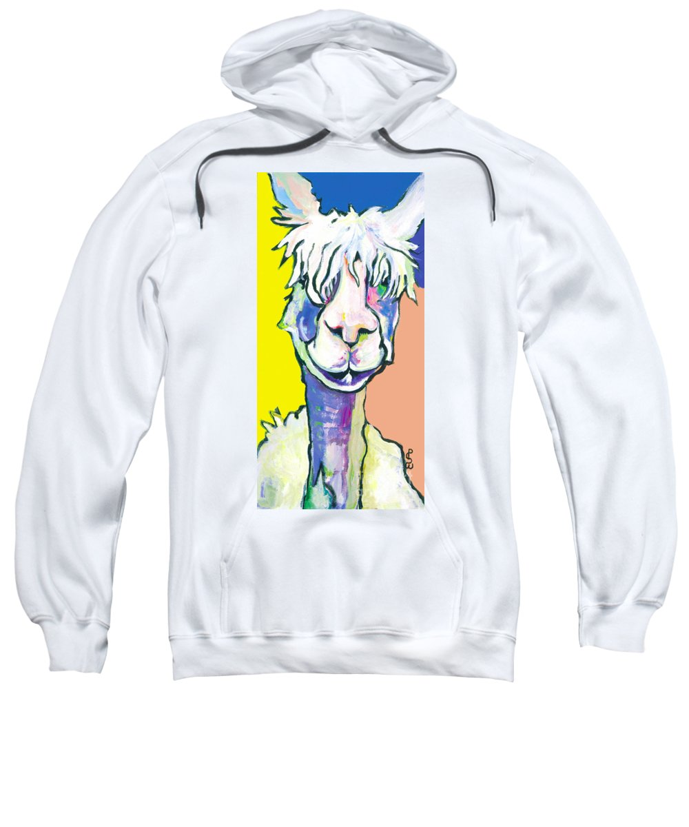 Mountain Animal Sweatshirt featuring the painting Veronica by Pat Saunders-White