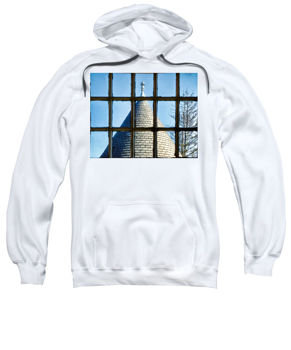 View Sweatshirt featuring the photograph View From A New England Turret by Robert Meyers-Lussier