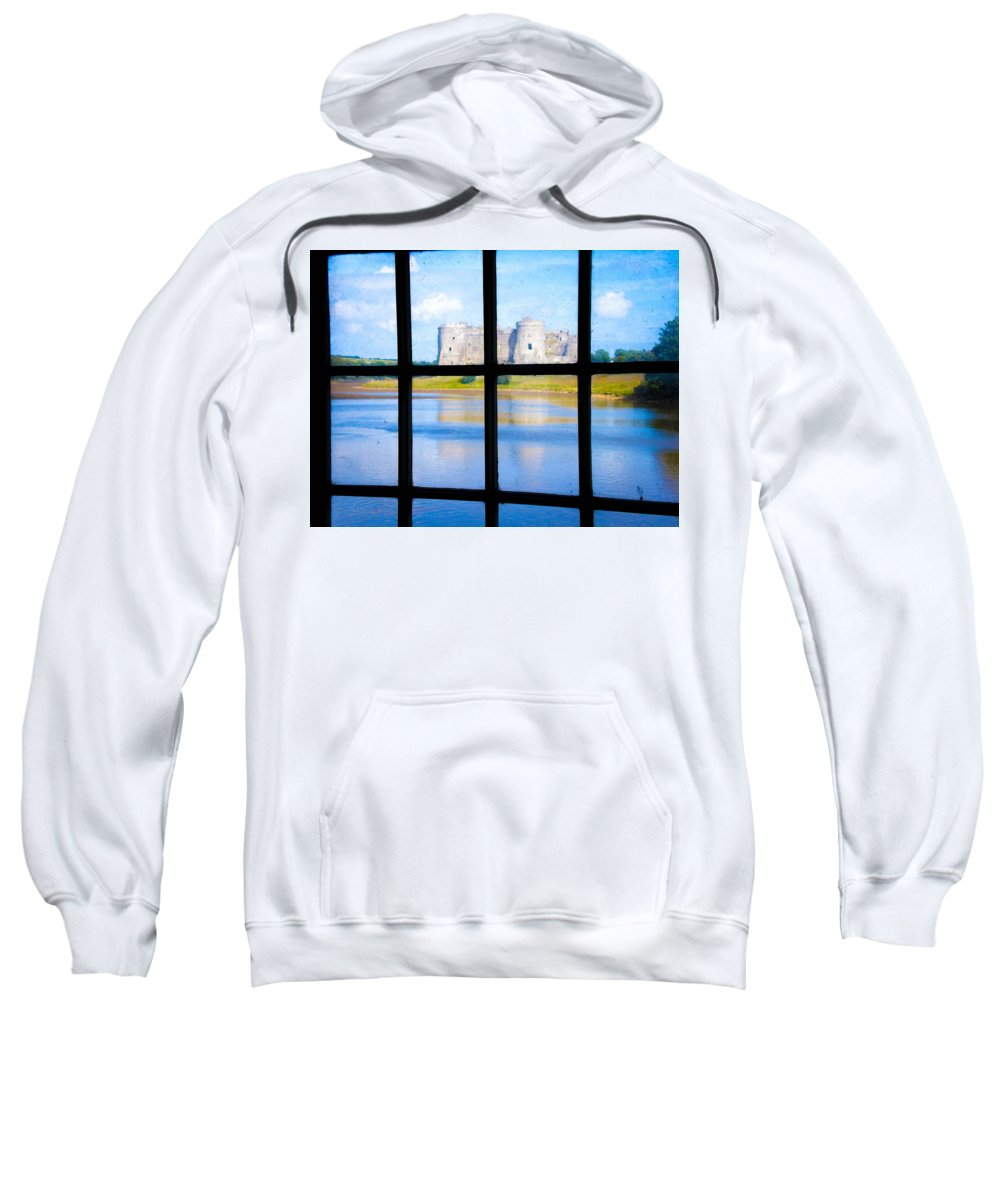 Wales Sweatshirt featuring the photograph View Of A Wales' Castle by Butter Milk