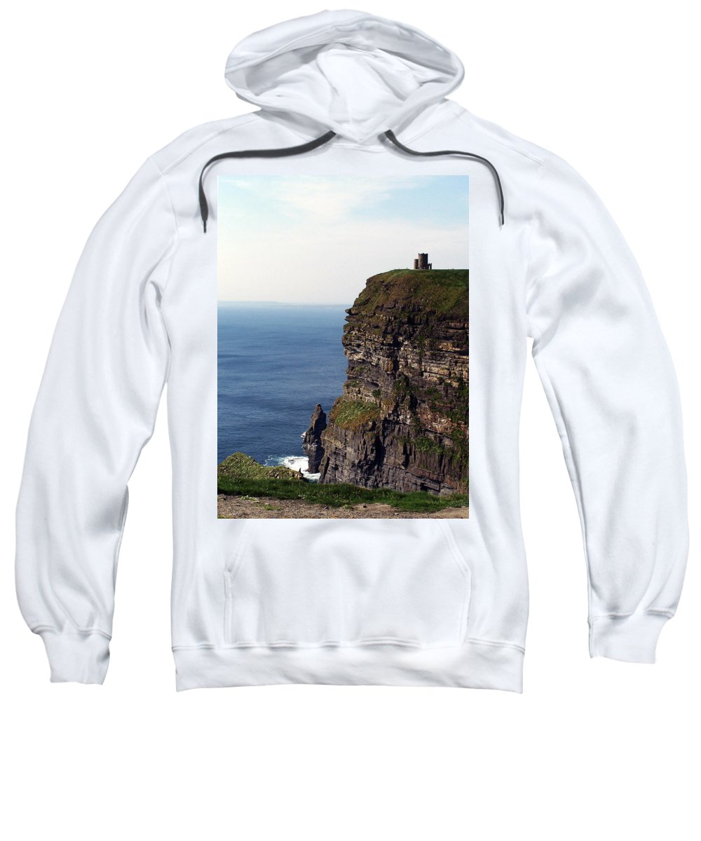 Irish Sweatshirt featuring the photograph View Of Aran Islands And Cliffs Of Moher County Clare Ireland by Teresa Mucha