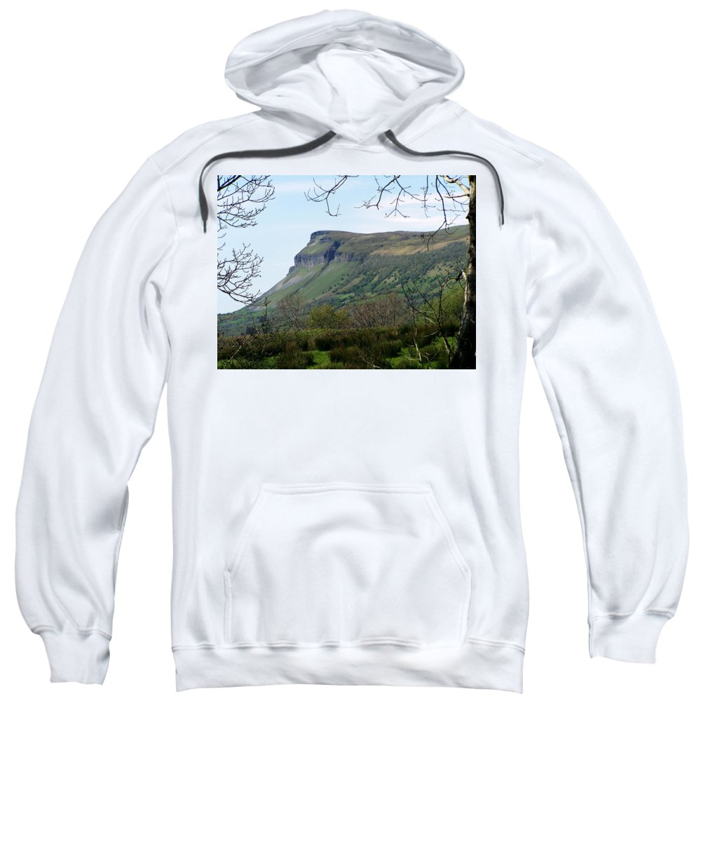 Irish Sweatshirt featuring the photograph View Of Benbulben From Glencar Lake Ireland by Teresa Mucha