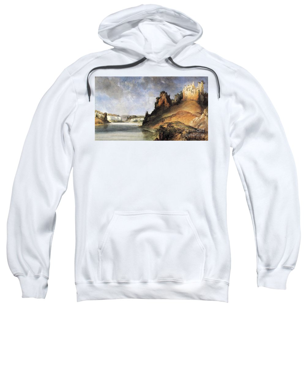 1830s Sweatshirt featuring the photograph View Of The Stone Walls by Granger